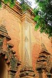 Grabado de la pared del templo de Htilominlo, Bagan, Myanmar Imágenes de archivo libres de regalías