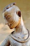 Grabado de madera en Rai Chern Tawan Fotografía de archivo