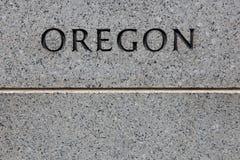 Grabado de Oregon fotos de archivo libres de regalías