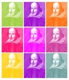 Grabado de William Shakespeare ilustración del vector