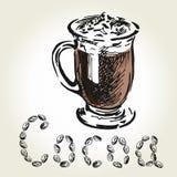 Grabado del color del cacao Imagen de archivo libre de regalías