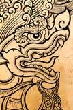 Grabado del dragón Imágenes de archivo libres de regalías