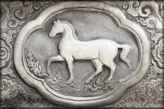 Grabado del valor de plata, símbolo del zodiaco Fotos de archivo libres de regalías