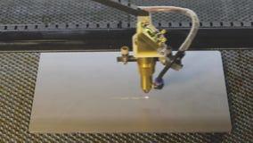 Grabado en el metal, grabado del laser del CNC M?quina moderna almacen de video