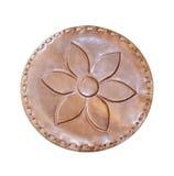 Grabado en relieve en la piel, flor Foto de archivo libre de regalías