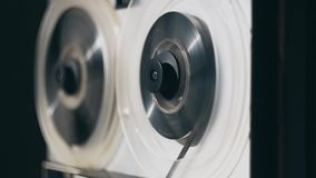 Grabadora de la bobina Cinta vieja del rebobinado de la grabadora del carrete almacen de metraje de vídeo