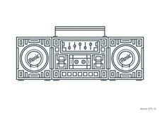 Grabadora elegante de la música Imagenes de archivo