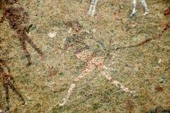 Grabados blancos de la roca de la señora en Brandberg Fotografía de archivo