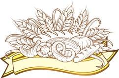 Grabados del pan stock de ilustración