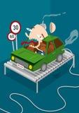 grabb för bilkörning Arkivfoton