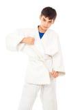 Grabb förlovade Taekwondo royaltyfria bilder