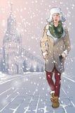 Grabb i en vinterMoskva Royaltyfri Foto