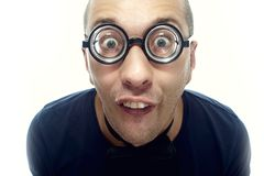 Grabb i glasögon arkivfoton