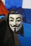 Grabben Fawkes maskerar Fotografering för Bildbyråer