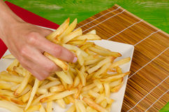 Grabbing fast food Royalty Free Stock Image