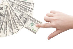 Grabbing money Stock Image