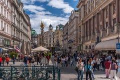 graben街道维也纳 图库摄影