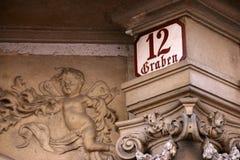 Graben - beroemde straat in Wien royalty-vrije stock afbeeldingen