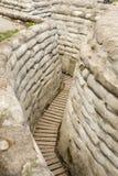 Graben des SandsackWeltkriegs 1 des Todes Flandern Belgien stockfotografie
