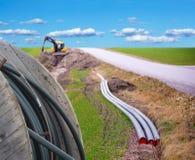 Graben für Breitband lizenzfreie stockfotos