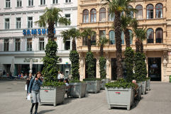 Graben gata, Wien royaltyfri bild