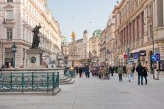 Graben, Straße in der Mitte von Wien Lizenzfreies Stockfoto