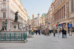Graben, street in the center of Vienna Royalty Free Stock Photo