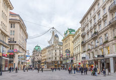 Graben street in Vienna Royalty Free Stock Photo