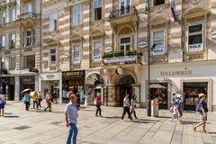 Graben Street In Vienna Stock Photography