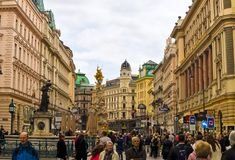 Graben street in Vienna in Austria Stock Photography