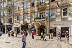 Graben Street In Vienna Stock Photography