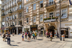 Graben Street In Vienna Stock Images
