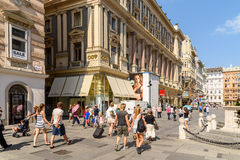 Graben Street In Vienna Stock Photos