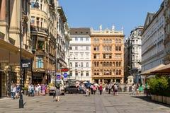 Graben Street In Vienna Stock Image