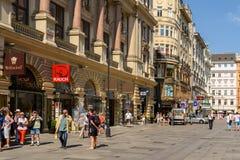 Graben Street In Vienna Stock Photos