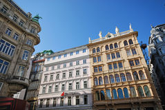 Graben Street in Vienna, Austria. Royalty Free Stock Images