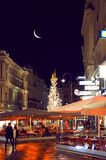 Graben street of Vienna by night Royalty Free Stock Photos