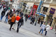 Graben, Vienna Stock Photo