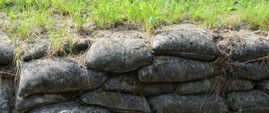 Graben vom Ersten Weltkrieg, Relikt, Hintergrund Lizenzfreies Stockfoto