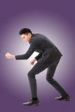Grabende Haltung oder Anwendung der Schaufel stockbilder