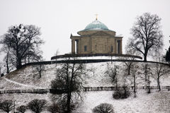 Grabkapelle. Grave chapel in winter with snow Royalty Free Stock Images