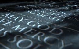 Grabstein des überführten Mörders Lizenzfreie Stockfotografie