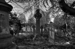 Grabstein des keltischen Kreuzes Stockfoto