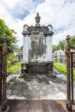Grabstein am keinem Lafayette-Kirchhof 1 in New Orleans Lizenzfreies Stockfoto