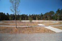 Grabsteine auf dem Feld der Ehre Loenen in den Niederlanden lizenzfreie stockfotografie
