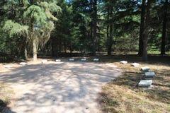 Grabsteine auf dem Feld der Ehre Loenen in den Niederlanden stockfoto