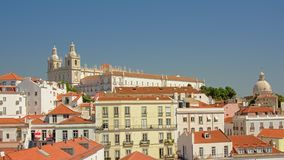 Graca church and houses on a hill in the city of Lisbon, Portugal royalty free stock image