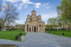 Gracanica kloster Kosovo - UNESCOvärldsarv Royaltyfria Foton