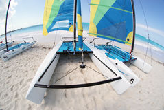 Beach catamarans Royalty Free Stock Images