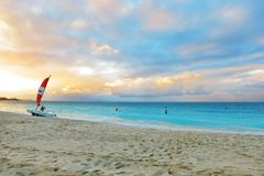Grace Bay. Beach in the Turks & Caicos Stock Images